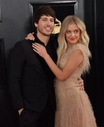 Morgan Evans and Kelsea Ballerini arrive for the 61st Grammy Awards in Los Angeles