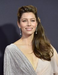 Jessica Biel attends the 69th annual Primetime Emmy Awards in Los Angeles