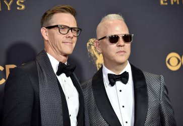 Ryan Murphy and David Miller attend the 69th annual Primetime Emmy Awards in Los Angeles