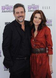 Hilarie Burton Jeffrey Dean Morgan.attend the Film Independent Spirit Awards in Santa Monica, California