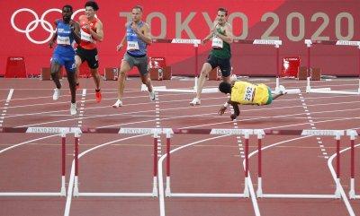 400m Hurdles Semifinal Race at Tokyo Olympics