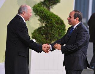 Abdel Fattah el-Sisi Arrives at Opening of UN Climate Summit Near Paris