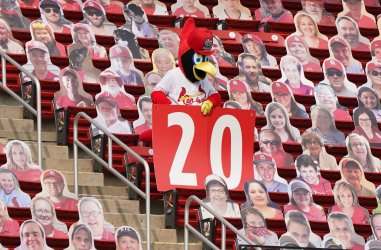 St. Louis Cardinals Mascot Fredbird Honors The Late Lou Brock