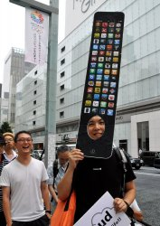 New iPhone 5 on the launch day in Tokyo