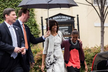 President Obama attends Easter service in Washington, DC