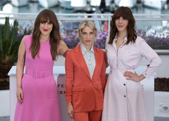 Anne-Elizabeth Bosse, Nancy Grant and Monia Chokri attend the Cannes Film Festival
