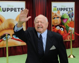 """Mickey Rooney attends """"The Muppets"""" premiere in Los Angeles"""