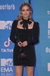 Laura Whitmore attends the MTV Europe Music Awards in Bilbao