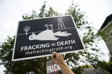 Fracking Protest in Syracuse, New York