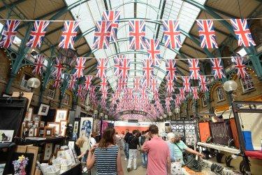 Preparations for Queen Elizabeth II's Diamond Jubilee Celebrations in London