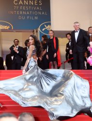 Winnie Harlow attends the Cannes Film Festival