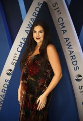 Hillary Scott of Lady Antebellum arrives for the 2017 CMA Awards in Nashville