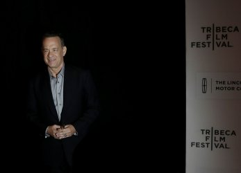 Tom Hanks arrives at the Tribeca Film Festival