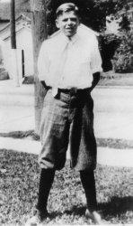 RONALD REAGAN AT AGE 12 IN DIXON, ILLINOIS