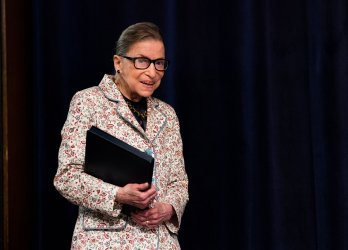 Supreme Court Associate Justice Ruth Bader Ginsburg speaks at Georgetown Law