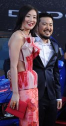"""Sarah Li  and Justin Lin attend the """"Fast & Furious 6"""" premiere in Llos Angeles"""