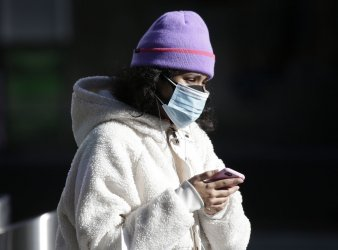 Pedestrians Wear Face Masks During COVID Pandemic in New York