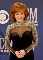 Reba McEntire backstage at the Academy of Country Music Awards in Las Vegas