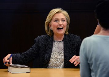 """Hillary Rodham Clinton signs copies of her book """"Hard Choices"""" in Los Angeles"""