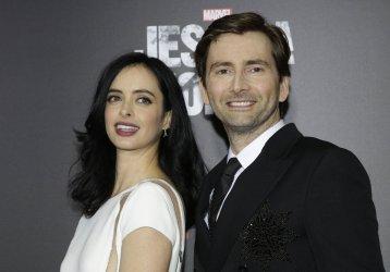 David Tennant and Krysten Ritter arrive at Jessica Jones premiere