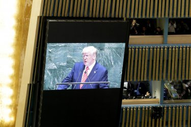 President Donald Trump speaks at UN GA
