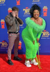 Bazzi and Lizzo attend the MTV Movie & TV Awards in Santa Monica, California