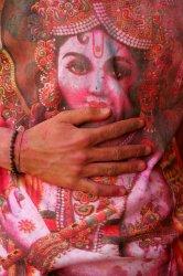 Indians celebrate Hindu Festival of Colors called Holi