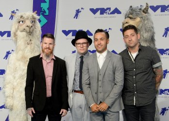 Fall Out Boy attends the 2017 MTV Video Music Awards in Inglewood, California
