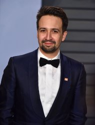 Lin-Manuel Miranda attends the Vanity Fair Oscar Party in Beverly Hills