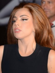 Lady Gaga attends her fragrance launch in London