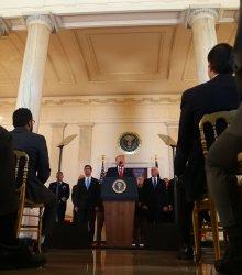 President Donald Trump Makes a Statement Regarding Iran at the White House