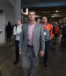Clemson head coach Dabo Swinney at CFP Cotton Bowl Media Day