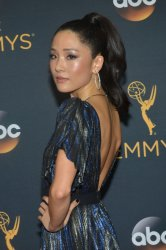 Constance Wu attends the 68th Primetime Emmy Awards in Los Angeles