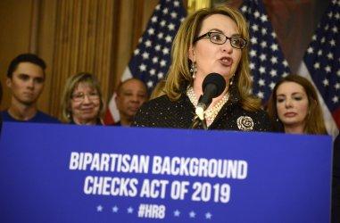 Gaby Giffords attends gun safety legislation event in Washington
