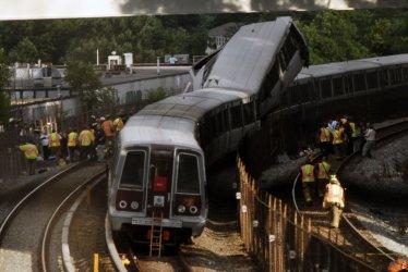 Metro trains derail, collide in Washington.