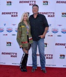 "Gwen Stefani and Blake Shelton attend the ""Bennett's War"" premiere in Burbank"