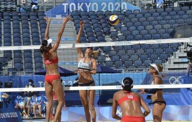 USA vs China Beach Volleyball at the Tokyo Olympics