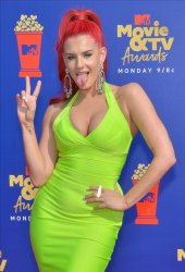 Justina Valentine attends the MTV Movie & TV Awards in Santa Monica, California