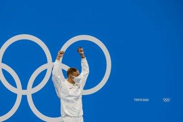 Caeleb Dressel of USA Gold Medal Winner Tokyo Olympics