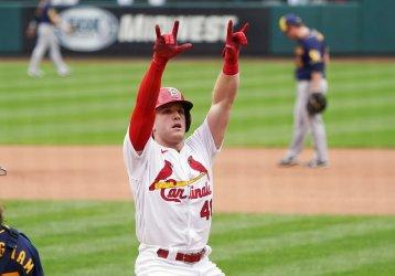 St. Louis Cardinals Harrison Bader Hits Solo Home Run