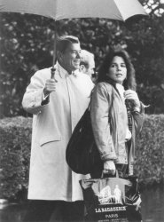 President Reagan Leaves White House with Daughter Patti