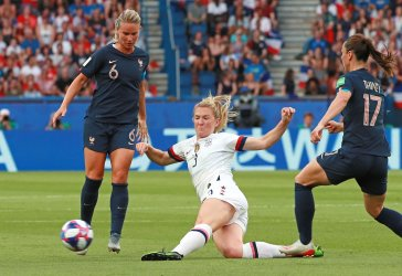 Team USA vs France Quarterfinal Match at the FIFA Women's World Cup in Paris