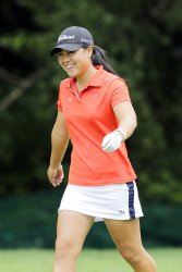 Danielle Kang in the third round of the Wegmans LPGA Championship at Locust Hill Country Club in New York