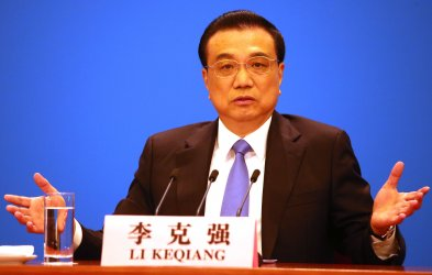 Li answers questions at a news conference in Beijing, China