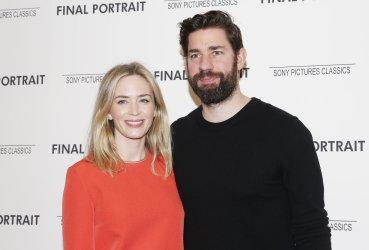 Emily Blunt and John Krasinski at the 'Final Portrait' New York Screening