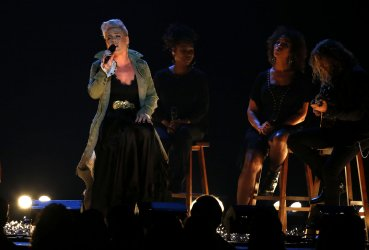 Pink performs at the 2017 CMA Awards in Nashville