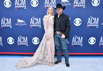 Brandi Johnson and Cody Johnson attend the Academy of Country Music Awards in Las Vegas