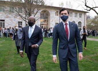 Georgia Senators greet students at Emory University