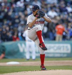 Red Sox starting pitcher Eduardo Rodriguez delivers in Chicago