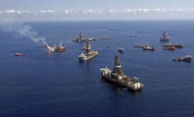 BP Deepwater Horizon oil accident site
